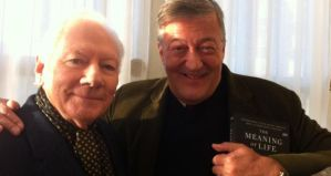 Gay Byrne and Stephen Fry